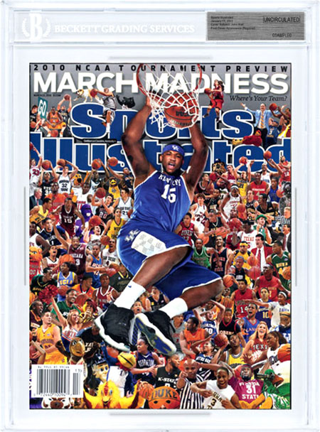 SPORTS ILLUSTRATED BGS Uncirculated DeMARCUS COUSINS 3/22/10 Regional KENTUCKY front image