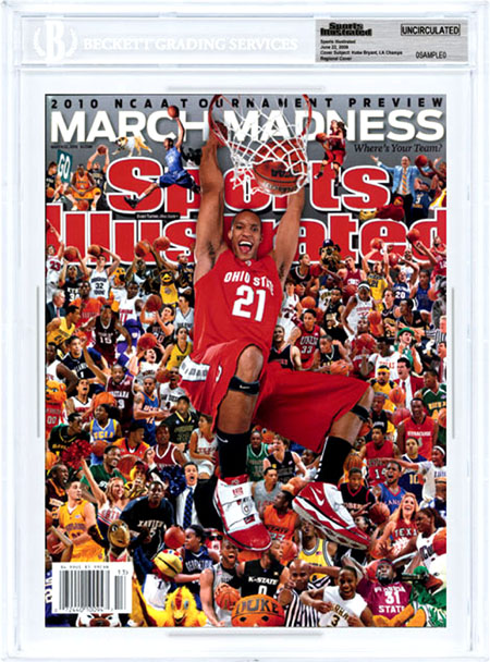 SPORTS ILLUSTRATED BGS Uncirculated EVAN TURNER 3/22/10 Regional OHIO STATE front image