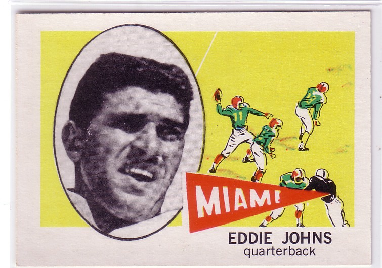 1961 Nu-Card #107 Eddie Johns