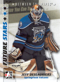 2007-08 Between The Pipes #17 Jeff Deslauriers