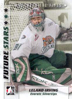 2007-08 Between The Pipes #34 Leland Irving