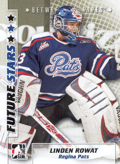 2007-08 Between The Pipes #35 Linden Rowat