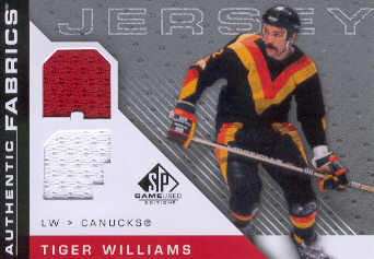 2007-08 SP Game Used Authentic Fabrics #AFTW Tiger Williams front image