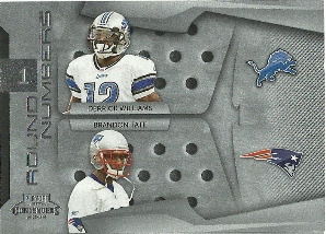2009 Playoff Contenders Round Numbers #17 Derrick Williams/Brandon Tate