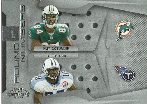 2009 Playoff Contenders Round Numbers #19 Patrick Turner/Jared Cook