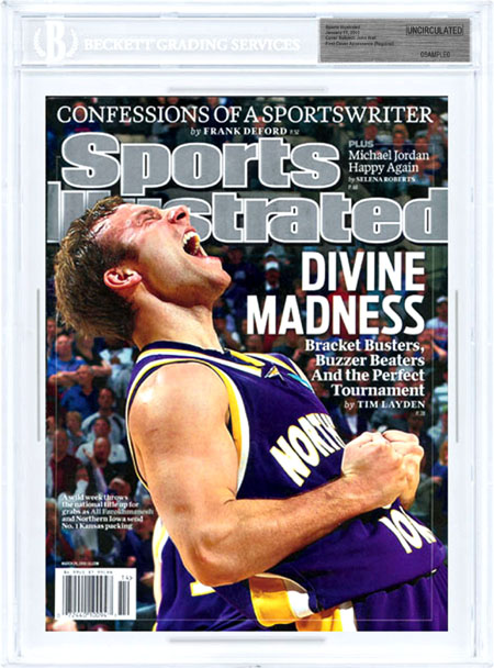 SPORTS ILLUSTRATED BGS Uncirculated ALI FAROKHMANESH 3/29/10 FIRST COVER