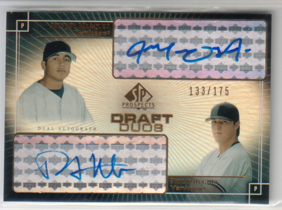 2004 SP Prospects Draft Duos Dual Autographs #HM Jeff Marquez/Philip Hughes