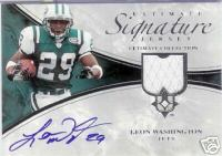 2006 Ultimate Collection Ultimate Scripts #USCWA Leon Washington