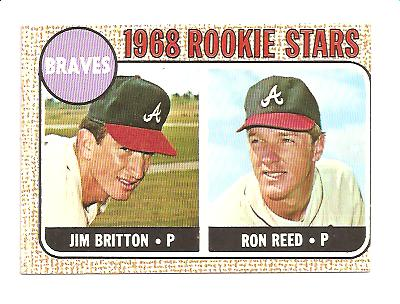 1968 Topps #76 Rookie Stars/Jim Britton/Ron Reed RC