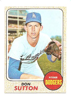 1968 Topps #103 Don Sutton