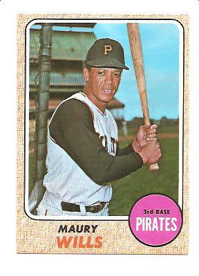 1968 Topps #175 Maury Wills