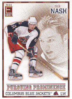 2003-04 Pacific Exhibit Pursuing Prominence #4 Rick Nash