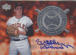 2005 Upper Deck Hall of Fame Cooperstown Calling Autograph Silver #BR3 Brooks Robinson Portrait