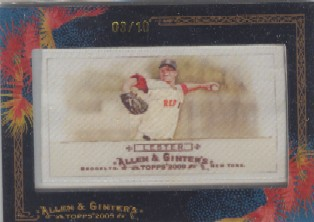 2009 Topps Allen and Ginter Mini Framed Cloth #279 Jon Lester