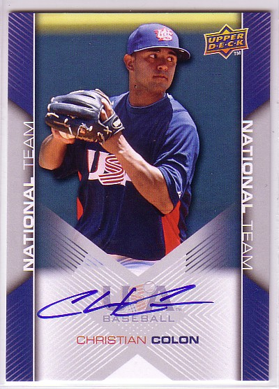 2009-10 USA Baseball #USA62 Christian Colon AU