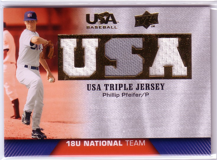 2009-10 USA Baseball 18U National Team Jerseys #PP Phillip Pfeifer