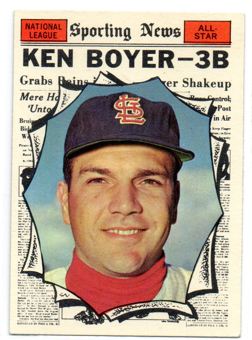 1961 Topps #573 Ken Boyer AS