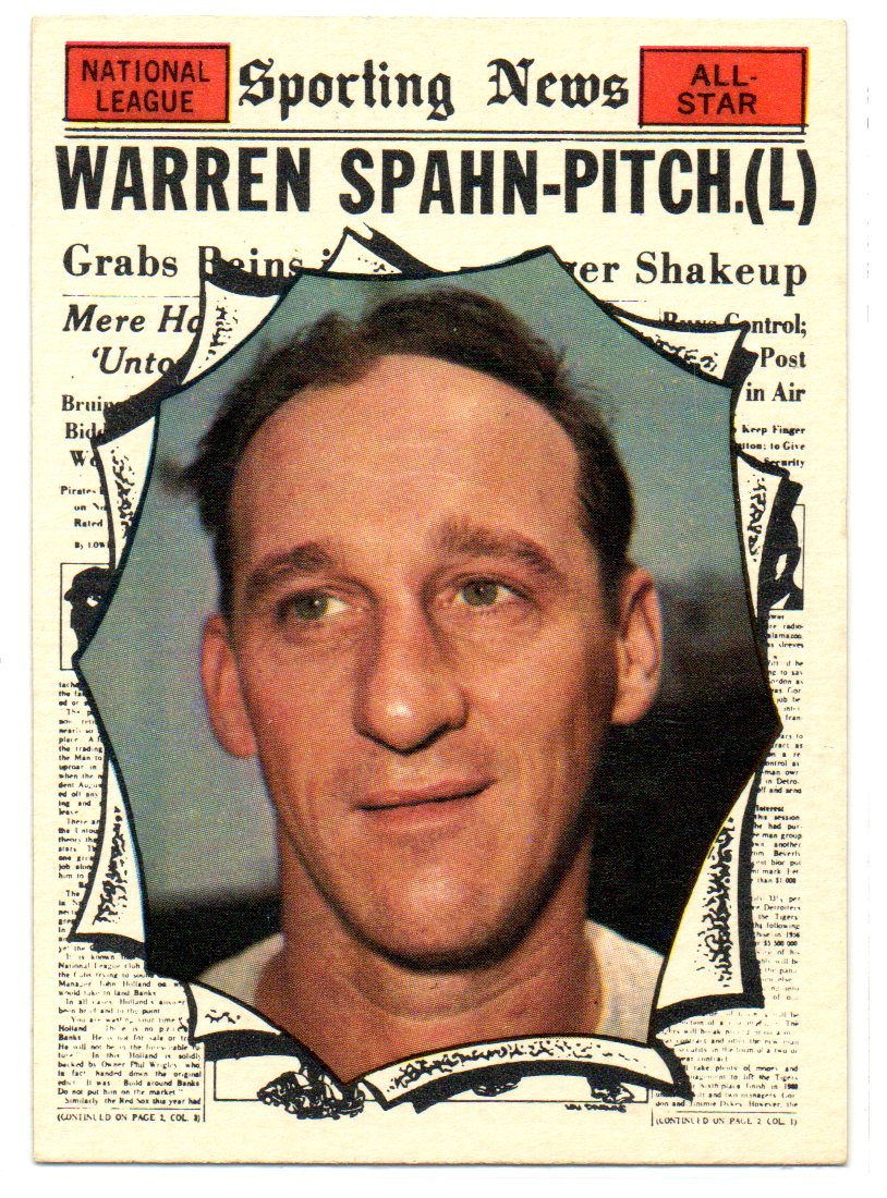 1961 Topps #589 Warren Spahn AS