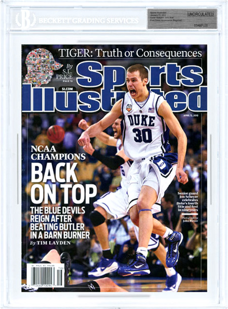 SPORTS ILLUSTRATED UNCIRCULATED JON SCHEYER DUKE CHAMPS