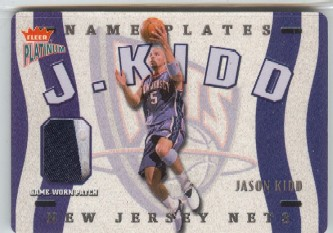 2002-03 Fleer Platinum Nameplates #JK Jason Kidd/300