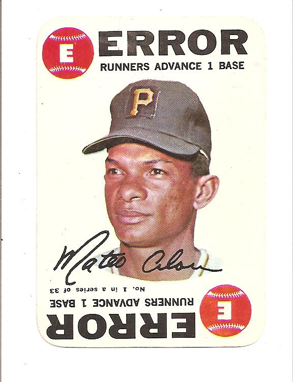 1968 Topps Game #1 Matty Alou