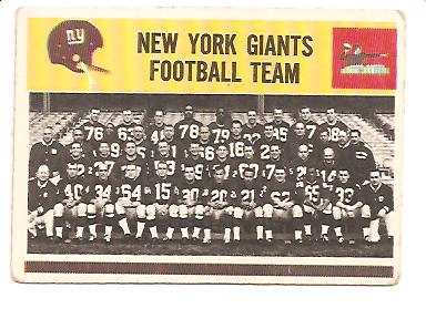 1964 Philadelphia #125 New York Giants