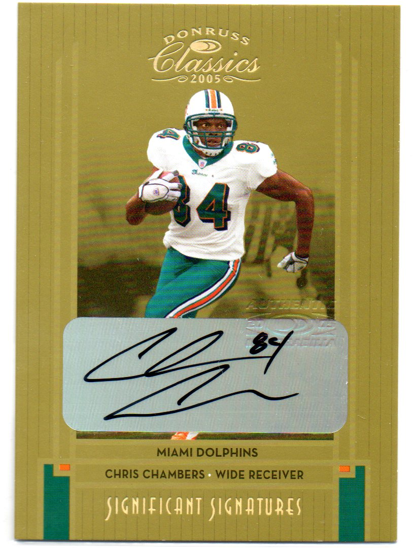 2005 Donruss Classics Significant Signatures Gold #51 Chris Chambers/15