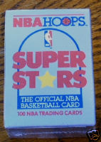 1989 - 1990 Hoops NBA Basketball Super Stars 100 Card Factory Sealed Set With Michael Jordan , Larry Bird , Magic Johnson & Many Other Superstars In A Colorful Factory Box - In Stock Now