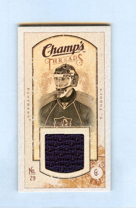 2009-10 Upper Deck Champ's Threads #MTVO Tomas Vokoun