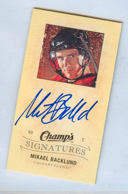 2009-10 Upper Deck Champ's Signatures #CSBA Mikael Backlund