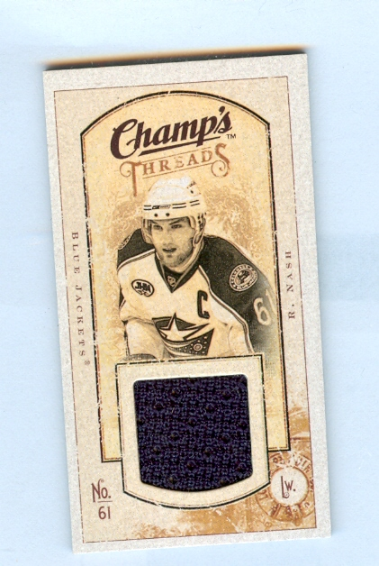 2009-10 Upper Deck Champ's Threads #MTRN Rick Nash