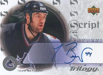2003-04 Upper Deck Trilogy Scripts #S2TB Todd Bertuzzi