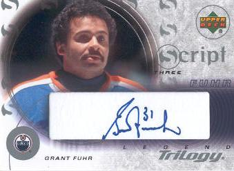 2003-04 Upper Deck Trilogy Scripts #S3GF Grant Fuhr