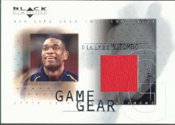2000-01 Black Diamond Game Gear #DM, Dikembe Mutumbo