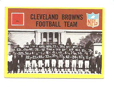 1967 Philadelphia #37 Cleveland Browns