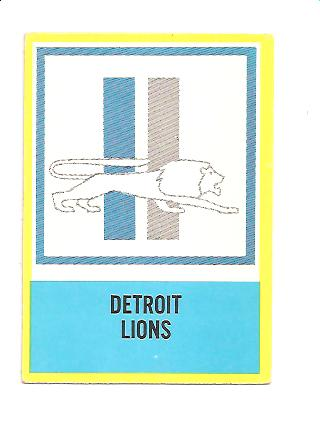 1967 Philadelphia #72 Detroit Lions