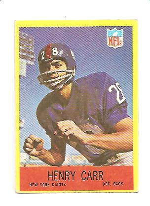 1967 Philadelphia #110 Henry Carr