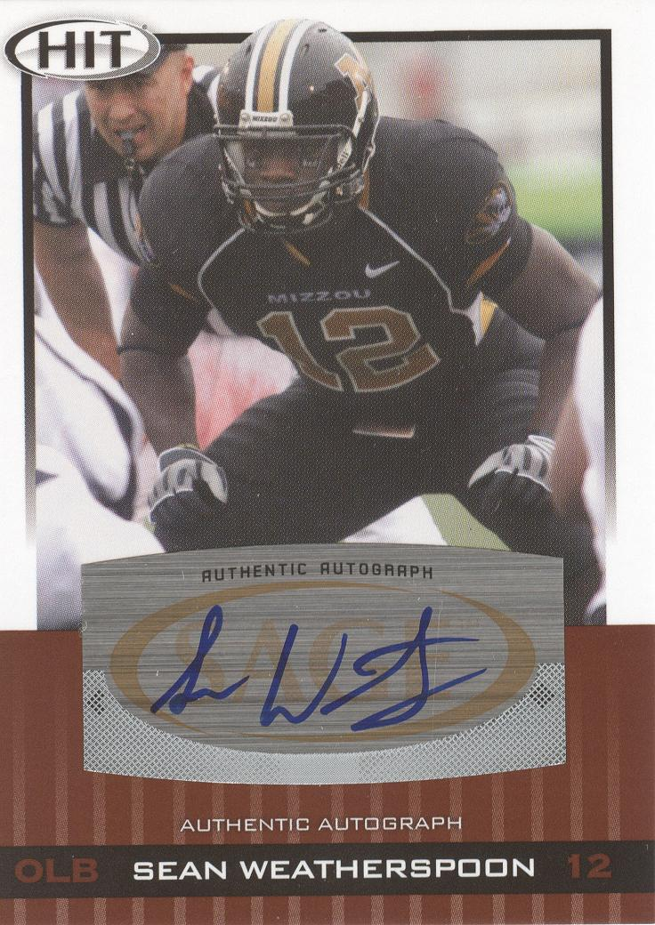 2010 SAGE HIT Autographs #A17 Sean Weatherspoon