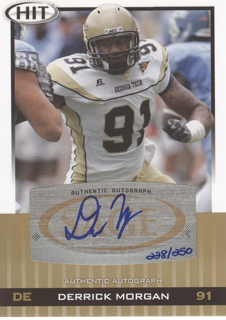 2010 SAGE HIT Autographs Gold #A57 Derrick Morgan