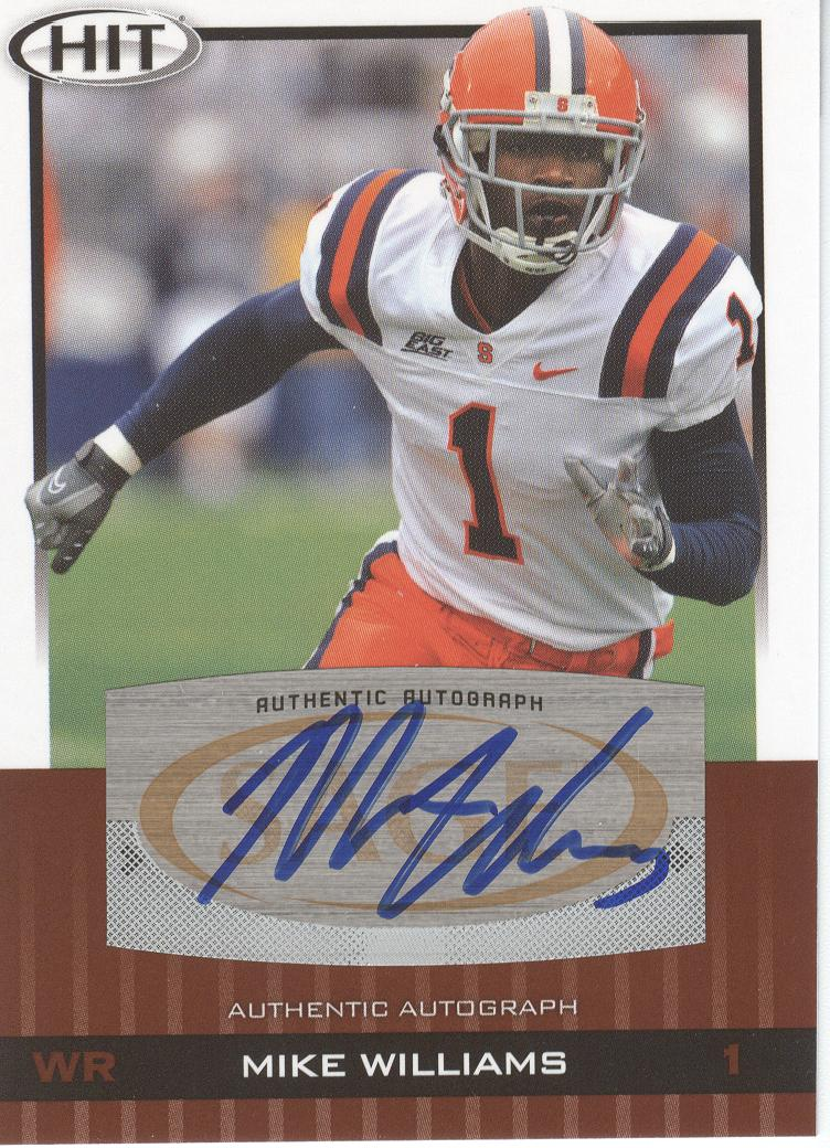 2010 SAGE HIT Autographs #A52 Mike Williams