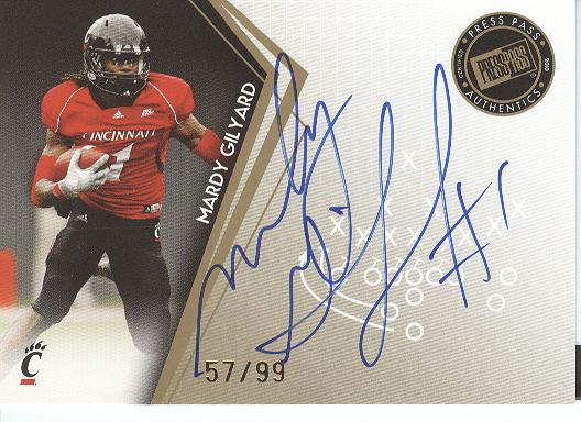 2010 Press Pass Autographs Gold #PPSNG Mardy Gilyard/99