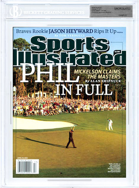 SPORTS ILLUSTRATED BGS SI Uncirculated PHIL MICKELSON MASTERS front image