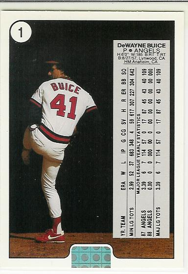 1988 Upper Deck Promos #B1 DeWayne Buice