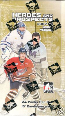 2007 - 08 ( 2008 ) In the Game ( ITG ) Heroes & Prospects Hockey Factory Sealed HOBBY Box With 1 Autograph & 2 Memorabilia Cards Per Box - Possible John Tavares Rookie Card - In Stock Now
