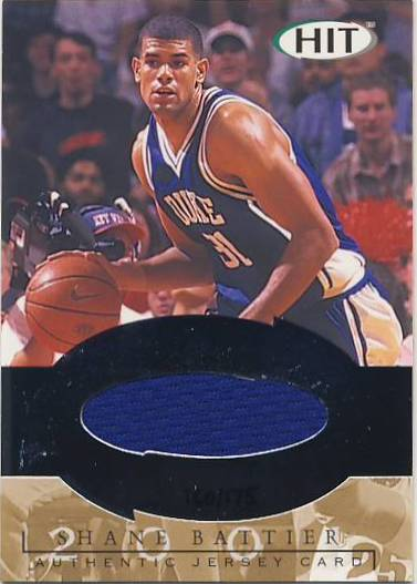 2001 SAGE HIT Authentic Jerseys #J7A Shane Battier Blue