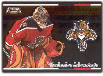 2002-03 Pacific Exclusive Advantage #8 Roberto Luongo