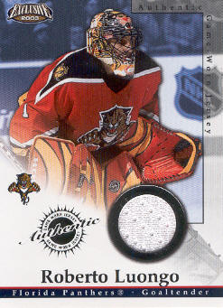 2002-03 Pacific Exclusive Jerseys #11 Roberto Luongo