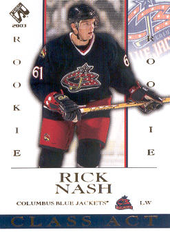2002-03 Private Stock Reserve Class Act #6 Rick Nash