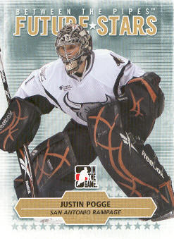 2009-10 Between The Pipes #18 Justin Pogge