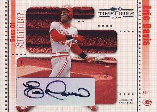 2004 Donruss Timelines Boys of Summer Autograph #13 Eric Davis
